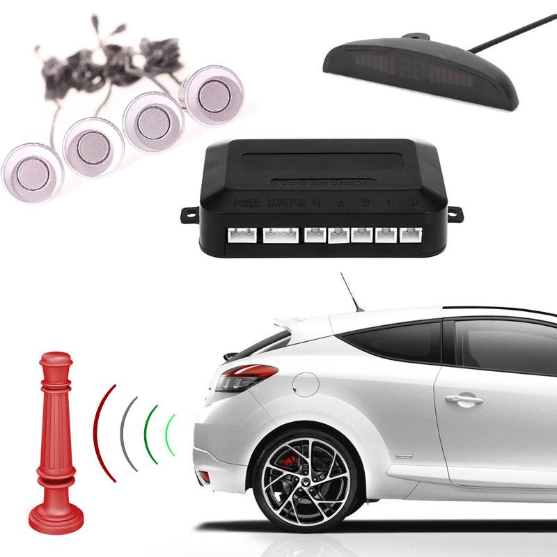 Σύστημα παρκαρίσματος με 4 αισθητήρες και LED οθόνη - Ασημί - OEM 53016