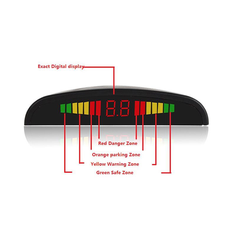 Σύστημα παρκαρίσματος με 4 αισθητήρες και LED οθόνη - Λευκό - OEM 53017