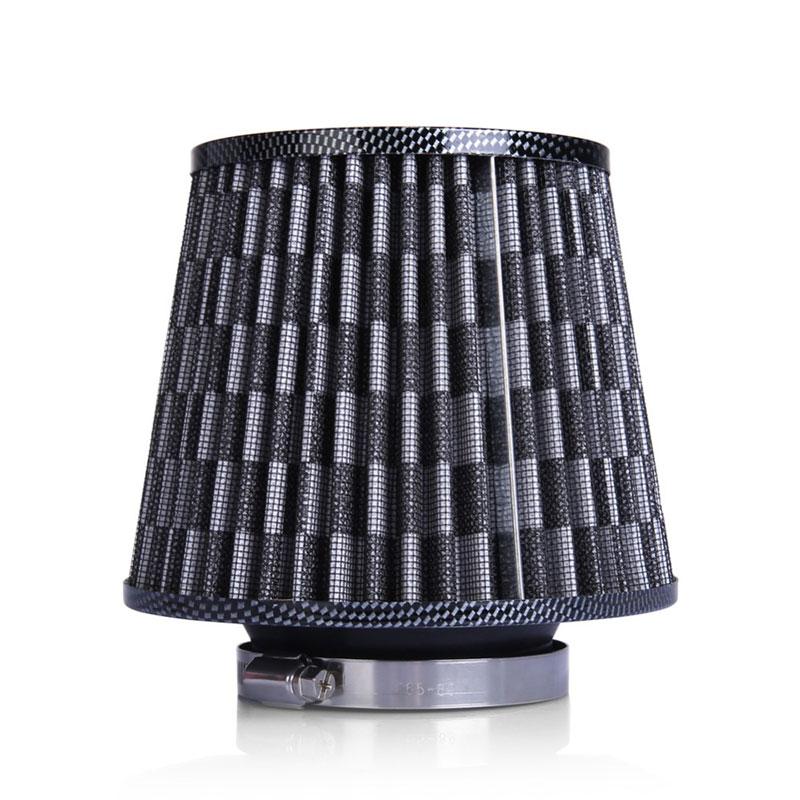 Κωνικό φίλτρο αέρα διπλής ροής φιλτροχοάνη αυτοκινήτου με δίχτυ - Carbon - OEM 53019