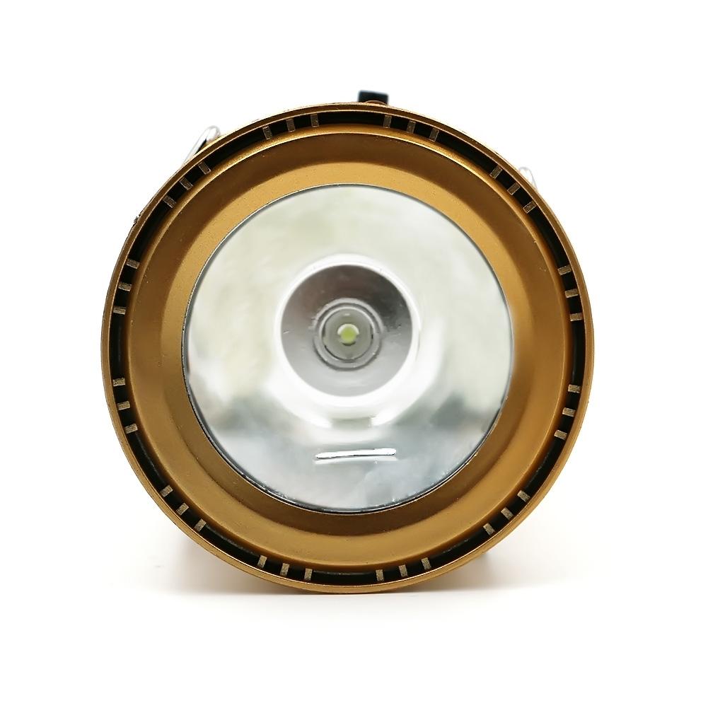 Φορητό ηλιακό φανάρι - φακός LED για κάμπινγκ 300Lm - Χρυσό - OEM 53073