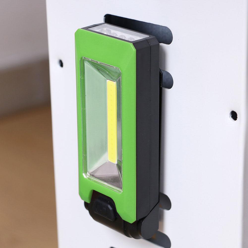 Φακός εργασίας COB+4xLED  με μαγνήτη 2000Lm - Πράσινο - OEM 53094
