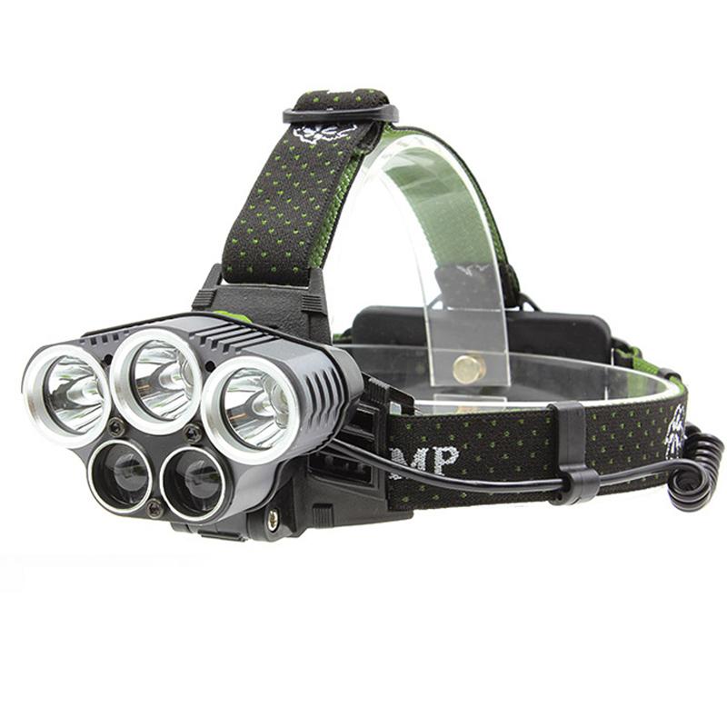 Φακός κεφαλής 3xCREE XM-L T6+2xXPE LED με 6 λειτουργίες - 8000Lm - OEM 53325