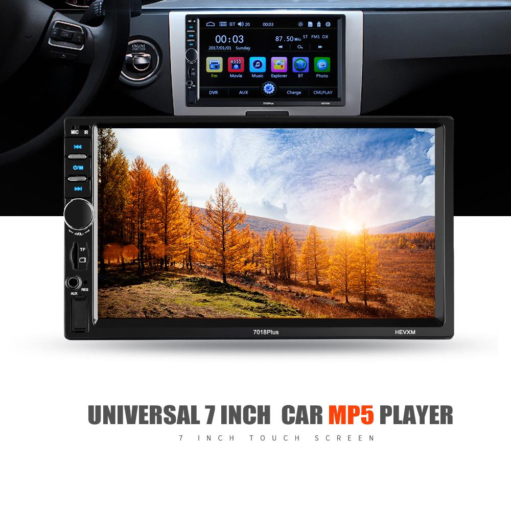 """Ηχοσύστημα MP5 με LCD οθόνη αφής 7"""", Bluetooth, ραδιόφωνο και χειριστήριο - 7018 - OEM 53382"""