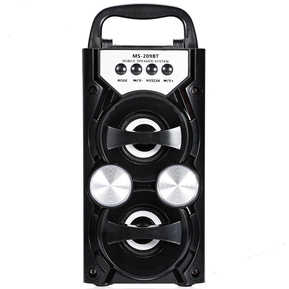 Φορητό ηχοσύστημα με είσοδο microSD/USB, Bluetooth και ραδιόφωνο MS-209BT - Μαύρο - OEM 53413