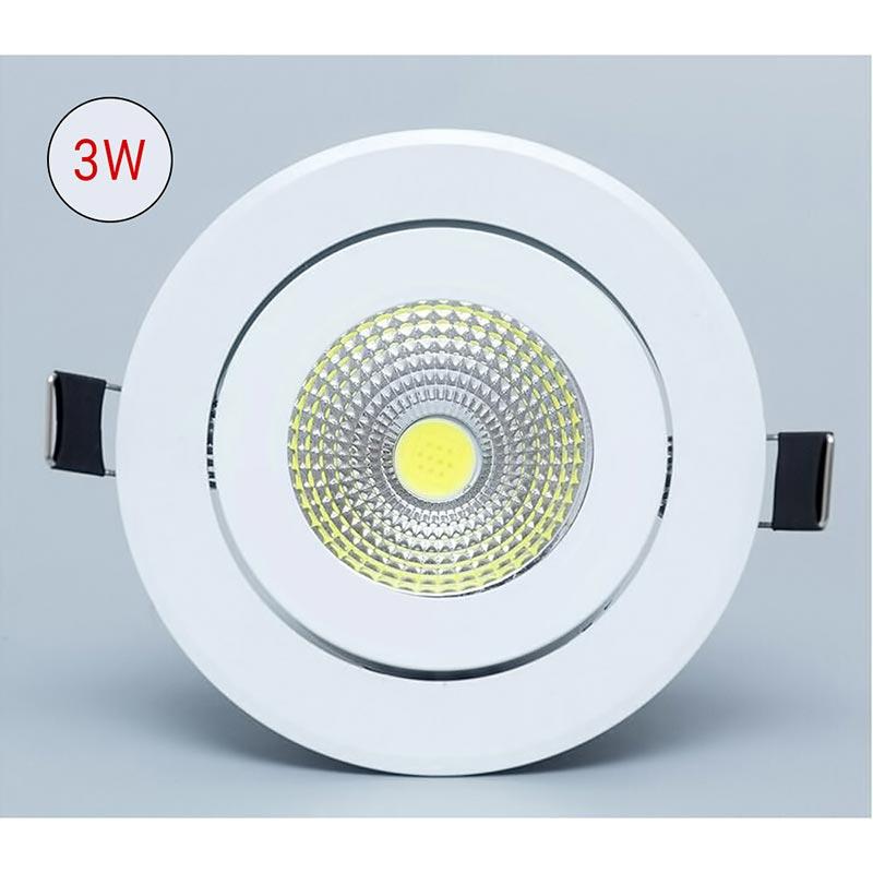 Στρογγυλό σποτ COB LED χωνευτό 3W - Ψυχρό φως - OEM 53450