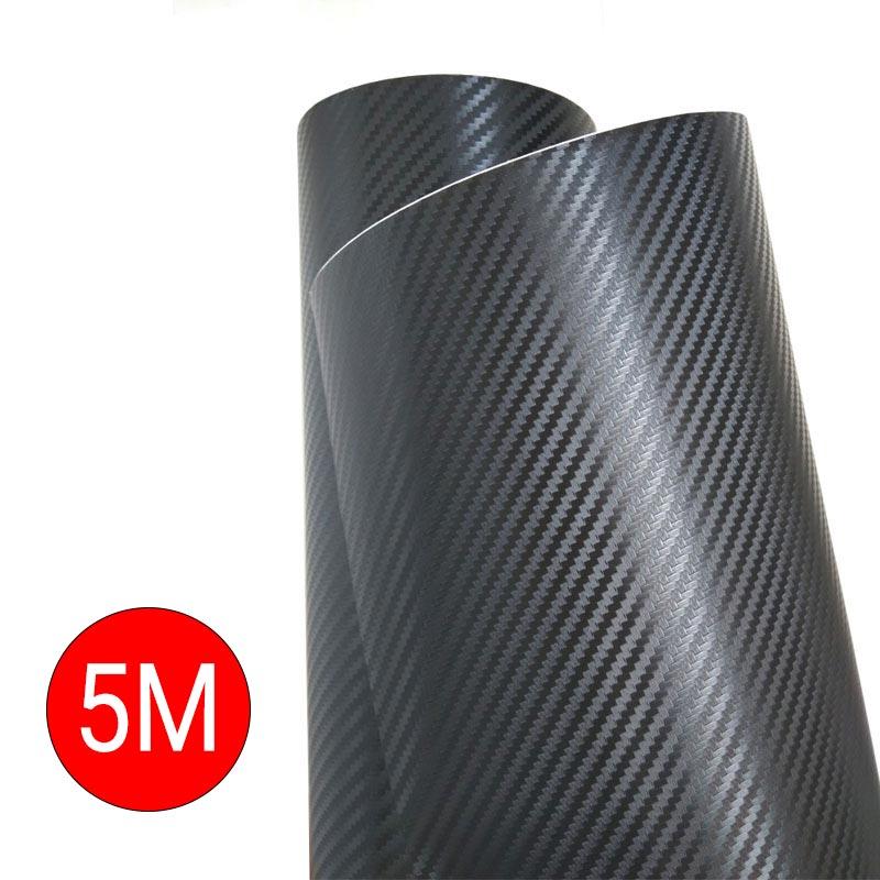 Διακοσμητική ταινία από PVC 3D με μοτίβο ανθρακονήματος 2 ρολά 7x500cm - Μαύρο - OEM 53473