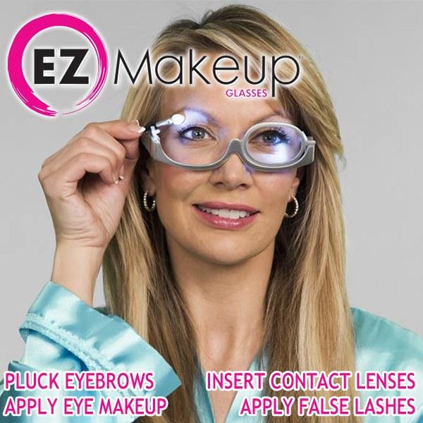 Γυαλιά για το μακιγιάζ με μεγεθυντικό φακό x3 και LED - OEM 53632