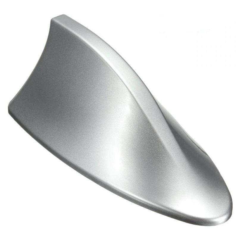 Kεραία αυτοκινήτου οροφής αυτοκόλλητη Shark Fin - Ασημί - OEM 53867