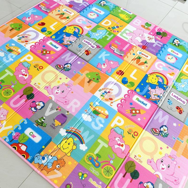 Παιδικό ισοθερμικό ταπέτο διπλής όψης - Pink Letters - OEM 53898