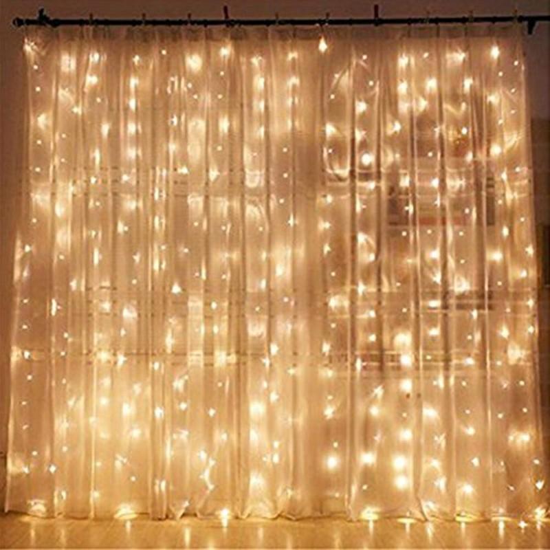 Χριστουγεννιάτικη κουρτίνα 3m με 240 led λαμπάκια - Θερμός φωτισμός - 1252 34869