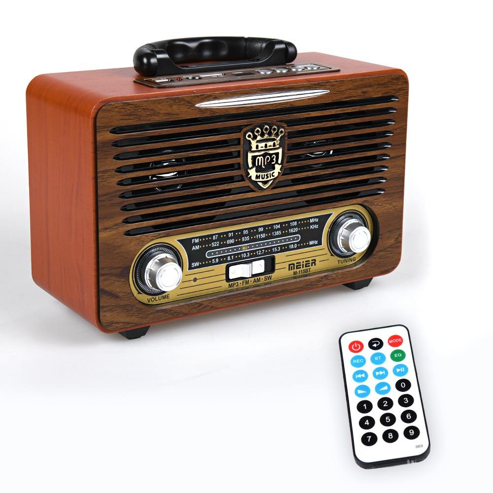 Vintage ηχοσύστημα φορητό M115BT - Καφέ - OEM 53922