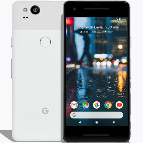 Google Pixel 2 64GB Clearly White EU  (Αγγλικός Φορτιστής + Αντάπτορας) Πληρωμή έως 12 δόσεις
