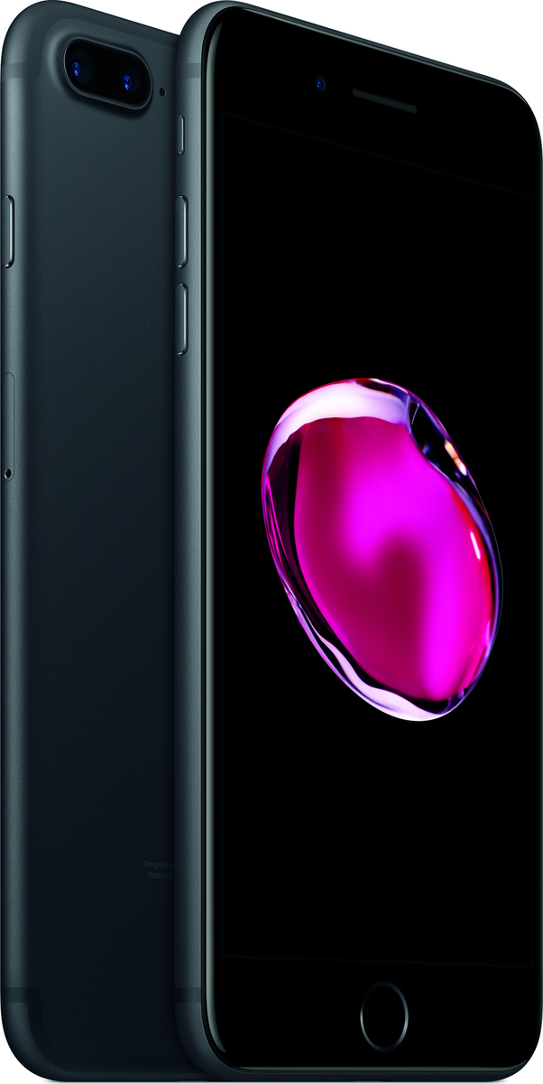 Apple iPhone 7 Plus 256GB Black EU (Δώρο Tempered Glass + Θήκη) (Αγγλικός Φορτιστής + Αντάπτορας)
