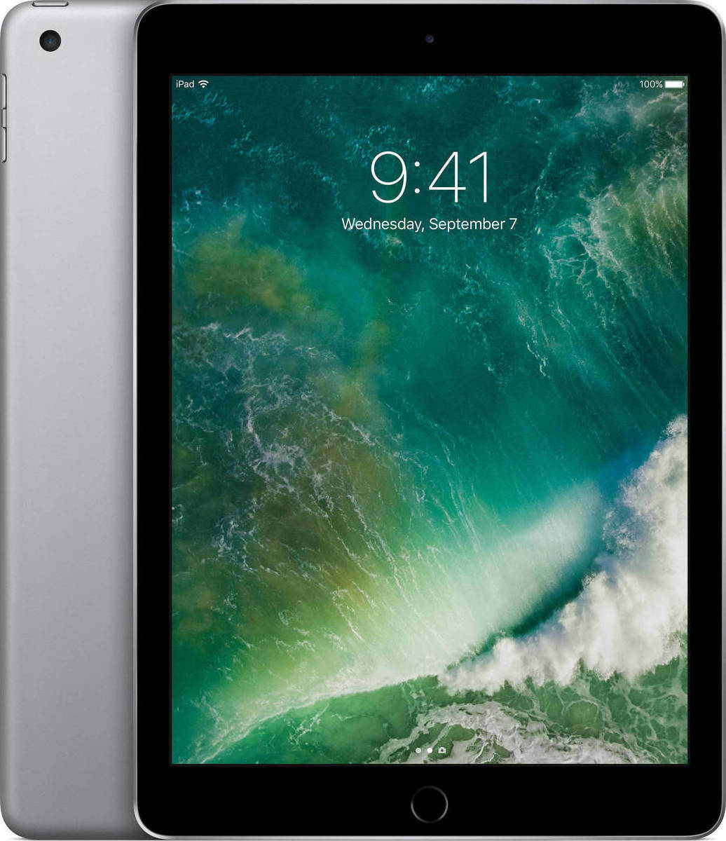 Apple iPad 9.7'' 2017 WiFi 32GB Space Grey Με Αντάπτορα Πληρωμή έως 12 δόσεις