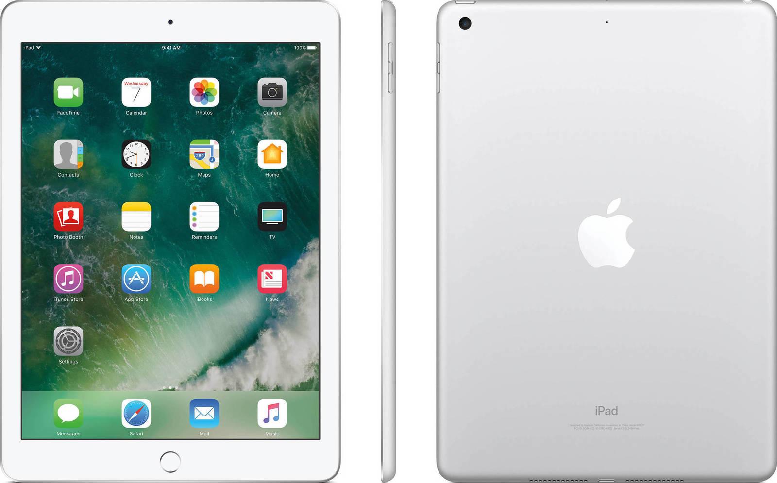 Apple iPad 9.7'' 2017 WiFi 32GB Silver Με Αντάπτορα Πληρωμή έως 12 δόσεις
