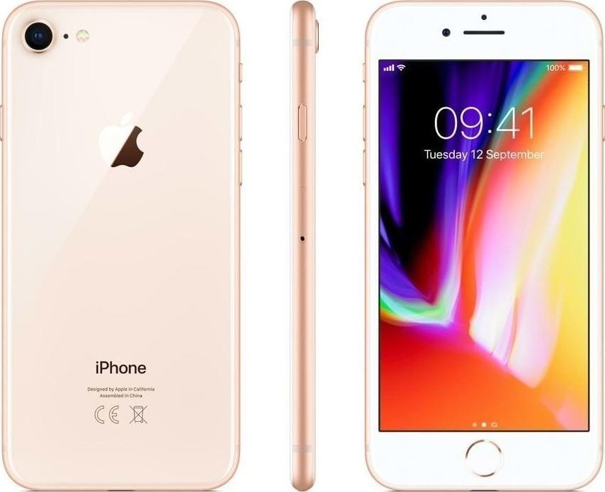 Apple iPhone 8 64GB Gold EU (Δώρο Tempered Glass + Θήκη) Πληρωμή έως 24 δόσεις