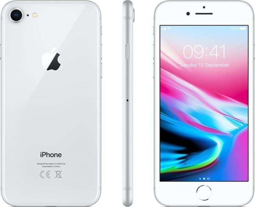 Apple iPhone 8 64GB Silver EU (Δώρο Tempered Glass + Θήκη) Πληρωμή έως 12 δόσεις