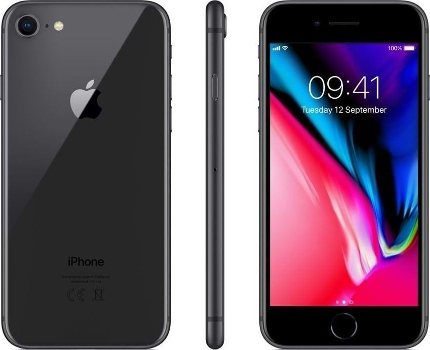 Apple iPhone 8 64GB Space Grey EU (Δώρο Tempered Glass + Θήκη) Πληρωμή έως 24 δόσεις