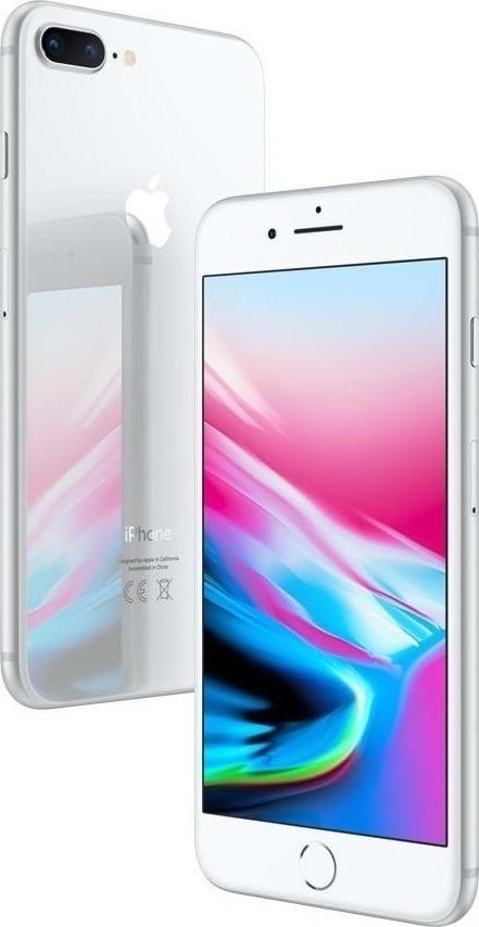 Apple iPhone 8 Plus 64GB Silver EU (Δώρο Tempered Glass + Θήκη)
