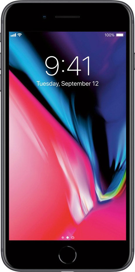 Apple iPhone 8 Plus 64GB Space Grey EU (Δώρο Tempered Glass + Θήκη)