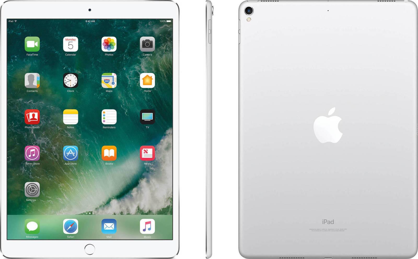 Apple iPad Pro 10.5'' 2017 WiFi 64GB Silver Με Αντάπτορα Πληρωμή έως 12 δόσεις