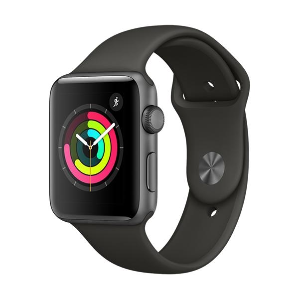 Apple Watch Series 3 42mm Aluminium Grey Plastic Sport Band Grey  Πληρωμή έως 12 δόσεις