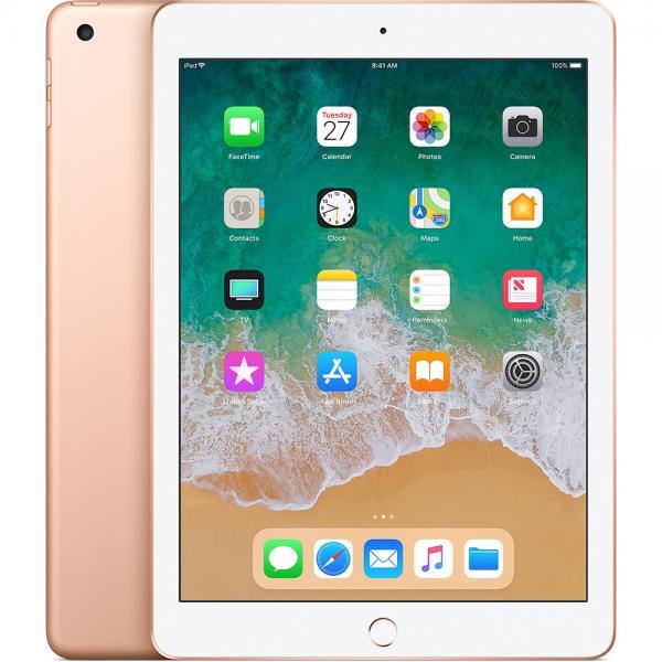 Apple iPad 9.7'' 2018 WiFi 32GB Gold Με Αντάπτορα Πληρωμή έως 12 δόσεις