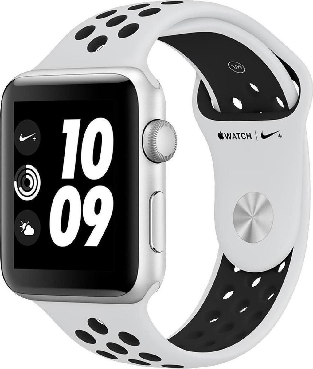 Apple Watch Series 3 Nike+ 42mm Aluminium Silver Platinum Black Plastic Sport Band Πληρωμή έως 24 δόσεις