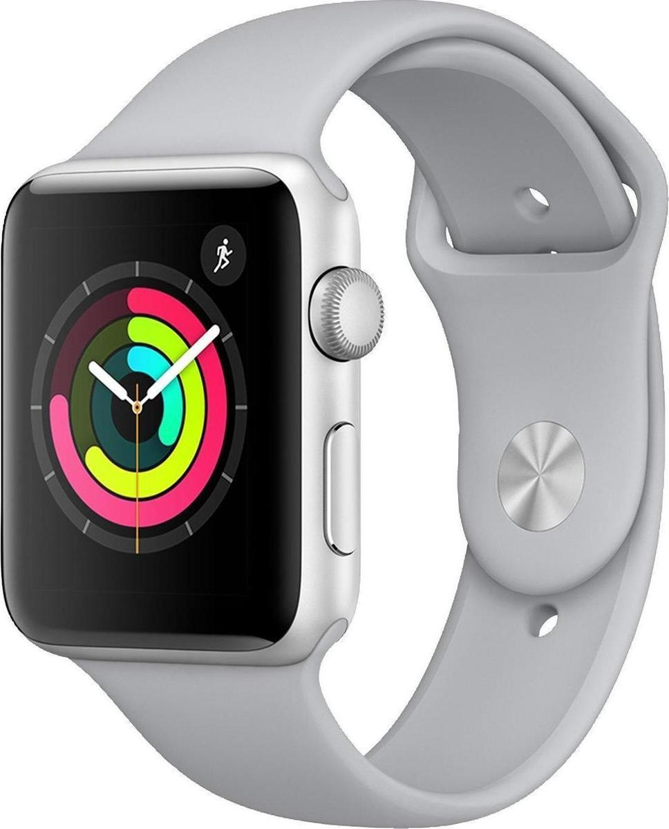 Apple Watch Series 3 42mm Aluminium Silver Fog Sport Band Πληρωμή έως 12 δόσεις
