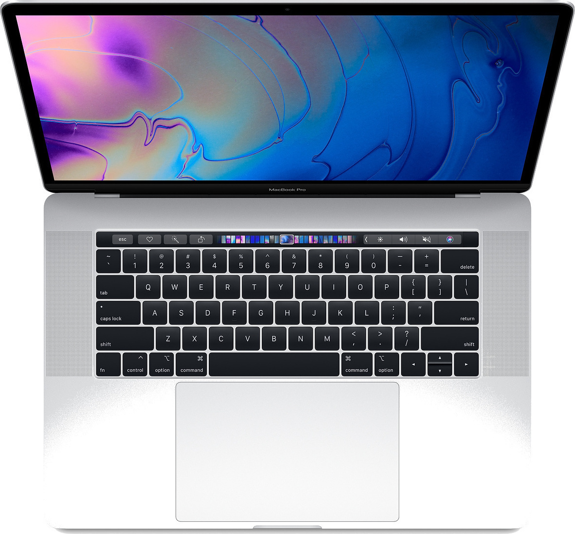 Apple MacBook Pro MR972 15'' 2.6GHz i7/16GB/512GB With Touch Bar 2018 Silver English Keyboard Με Αντάπτορα Πληρωμή έως 24 δόσεις