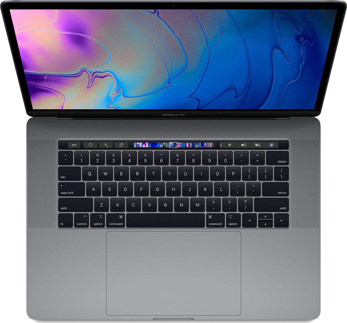 Apple MacBook Pro MR932 15.4'' 2.2GHz i7-8750H/16GB/256GB With Touch Bar 2018 Space Grey English Keyboard Με Αντάπτορα Πληρωμή έως 24 δόσεις