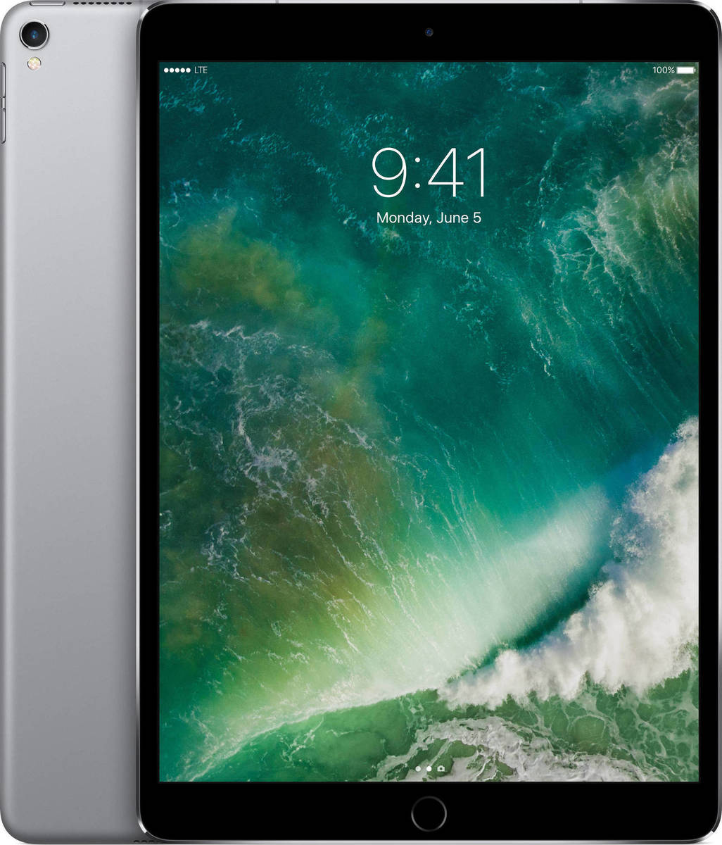 Apple iPad Pro 10.5'' 2017 WiFi and Cellular 256GB Space Grey Με Αντάπτορα Πληρωμή έως 24 δόσεις
