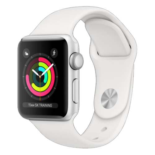 Apple Watch Series 3 38mm Silver Aluminium White Sport Band Πληρωμή έως 24 δόσεις