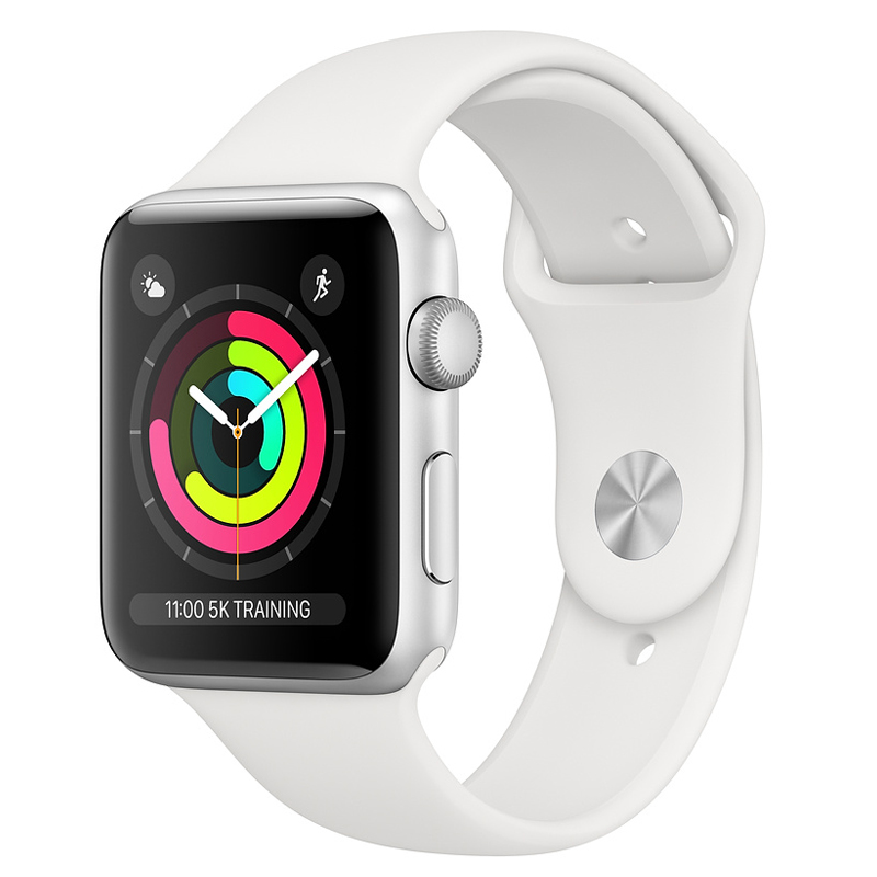 Apple Watch Series 3 Cellular 38mm Silver Aluminium White Sport Band Πληρωμή έως 24 δόσεις