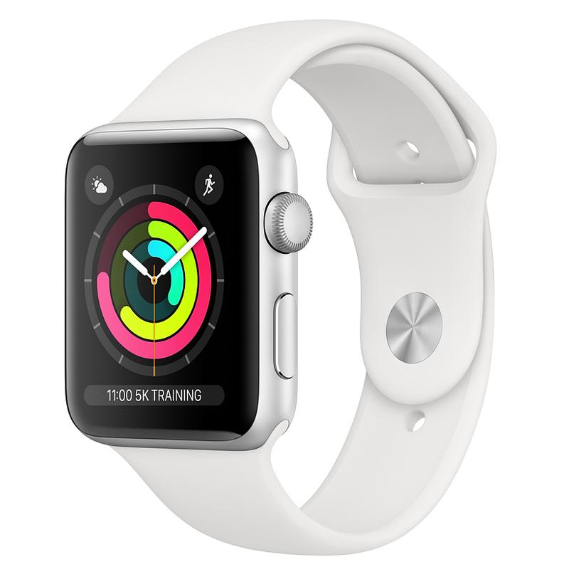 Apple Watch Series 3 Cellular 38mm Silver Aluminium White Sport Band Πληρωμή έως 24 δόσεις