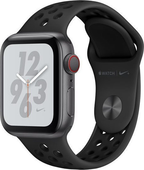 Apple Watch Series 4 Nike+ 44mm Aluminium Space Grey Nike Band MU6L2 Πληρωμή έως 24 δόσεις
