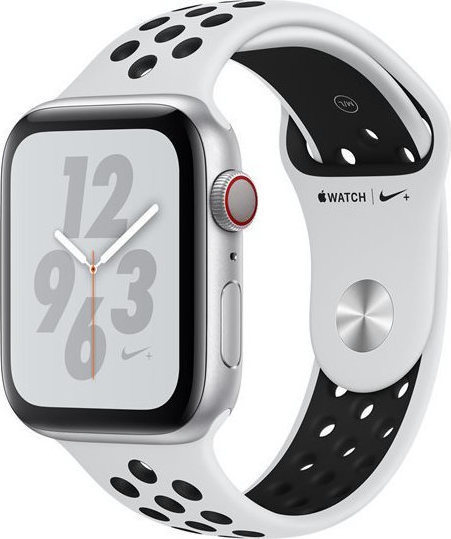 Apple Watch Series 4 Nike+ 44mm Aluminium Silver Nike Band MU6K2 Πληρωμή έως 24 δόσεις