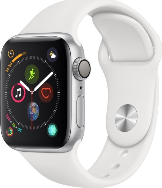 Apple Watch Series 4 44mm Aluminium Silver White Sport Band MU6A2 Πληρωμή έως 24 δόσεις