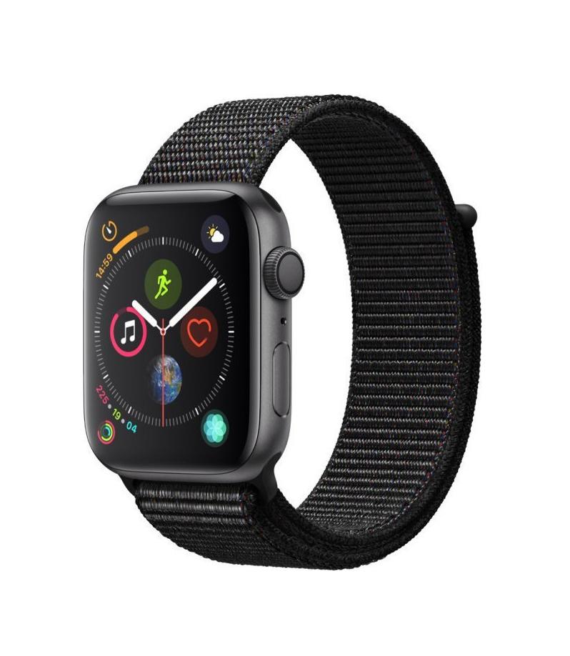 Apple Watch Series 4 44mm Cellular Aluminium Space Grey Black Sport Loop MTVV2 Πληρωμή έως 24 δόσεις