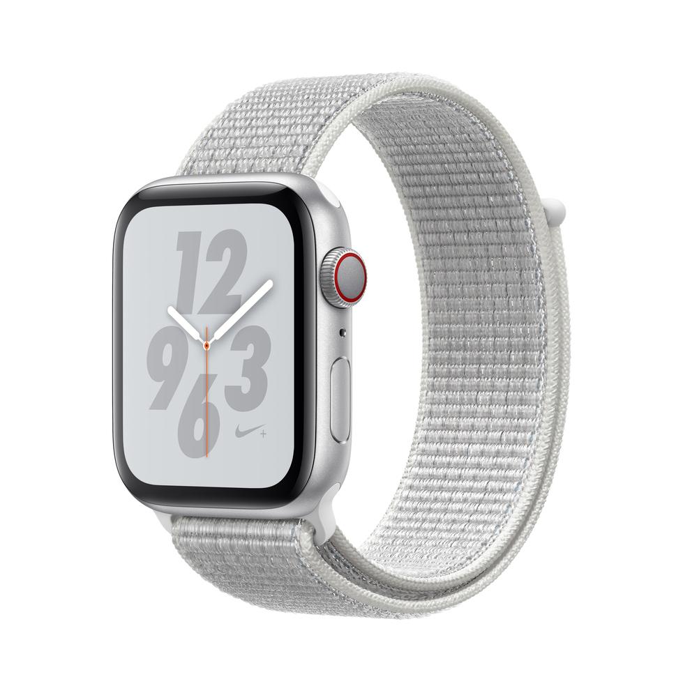 Apple Watch Series 4 Nike+ 44mm Cellular Aluminium Silver Nike Sport Loop MTXJ2 Πληρωμή έως 24 δόσεις
