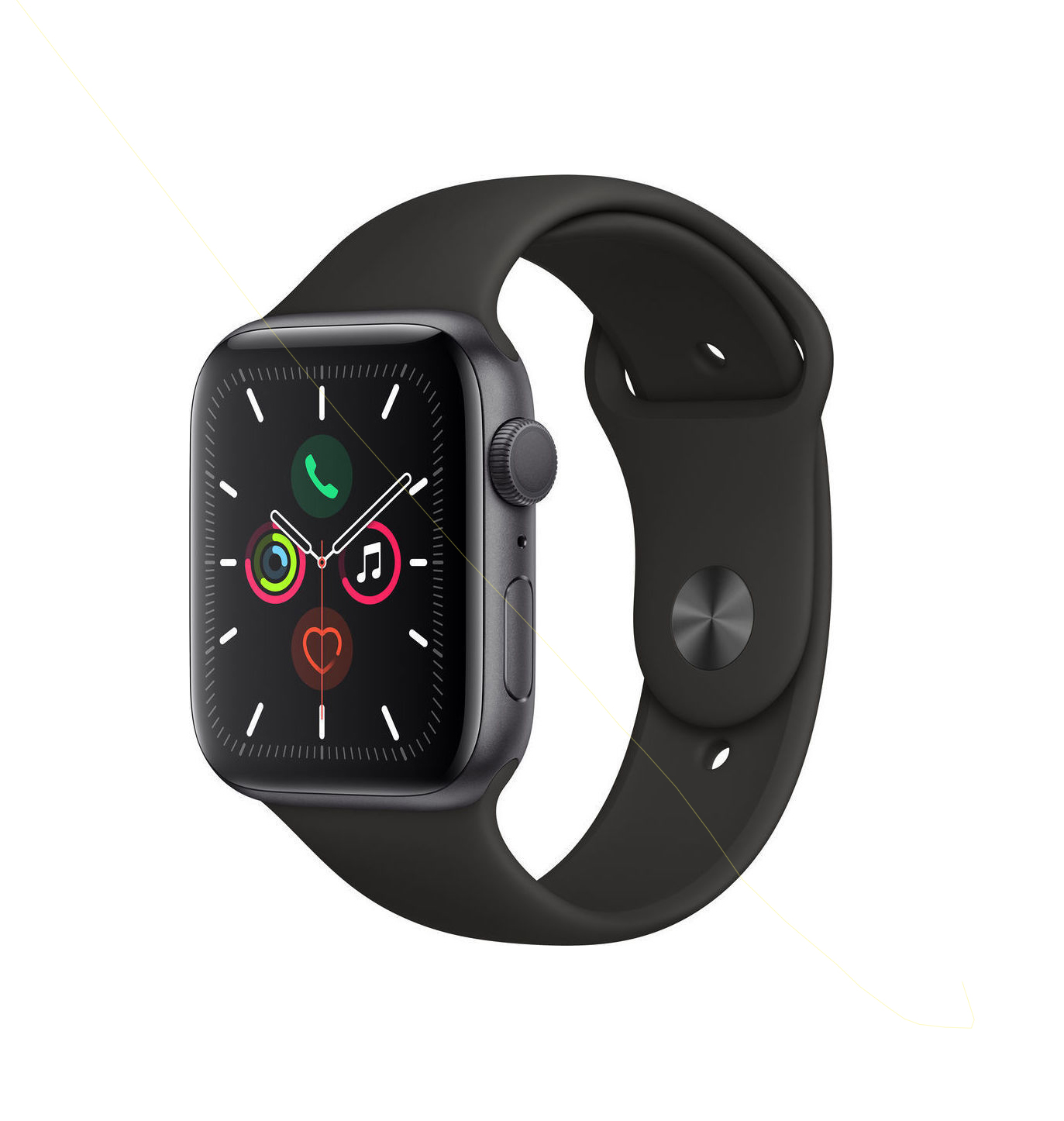 Apple Watch Series 5 44mm Cellular Aluminium Space Grey Sport Band MWWE2 Πληρωμή έως 24 δόσεις