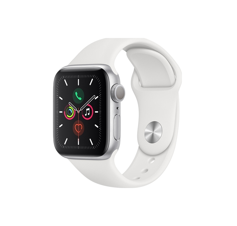 Apple Watch Series 5 40mm Aluminium Silver White Sport Band MWV62 Πληρωμή έως 24 δόσεις