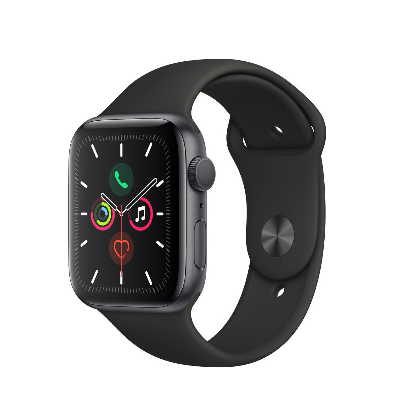 Apple Watch Series 5 44mm Aluminium Space Grey Sport Band MWVF2 Πληρωμή έως 24 δόσεις
