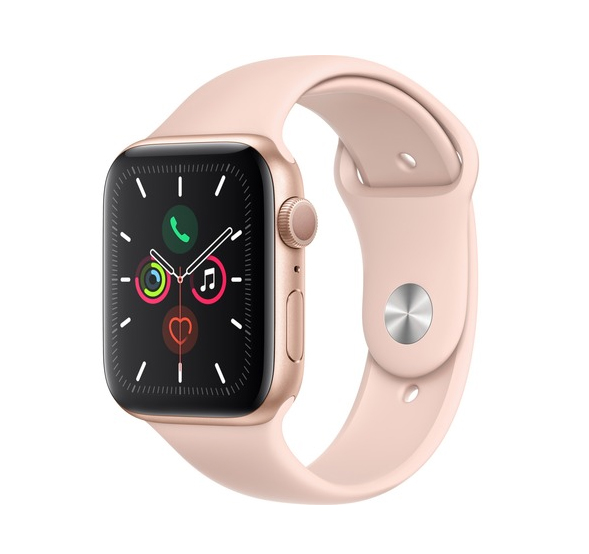 Apple Watch Series 5 44mm Aluminium Gold Pink Sport Band MWVE2 Πληρωμή έως 24 δόσεις