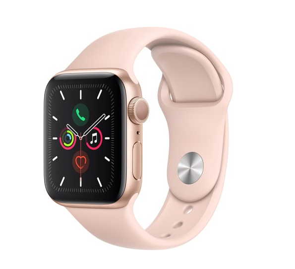 Apple Watch Series 5 40mm Aluminium Gold Pink Sport Band MWV72 Πληρωμή έως 24 δόσεις