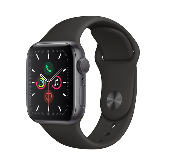 Apple Watch Series 5 40mm Aluminium Space Grey Sport Band MWV82 Πληρωμή έως 24 δόσεις*