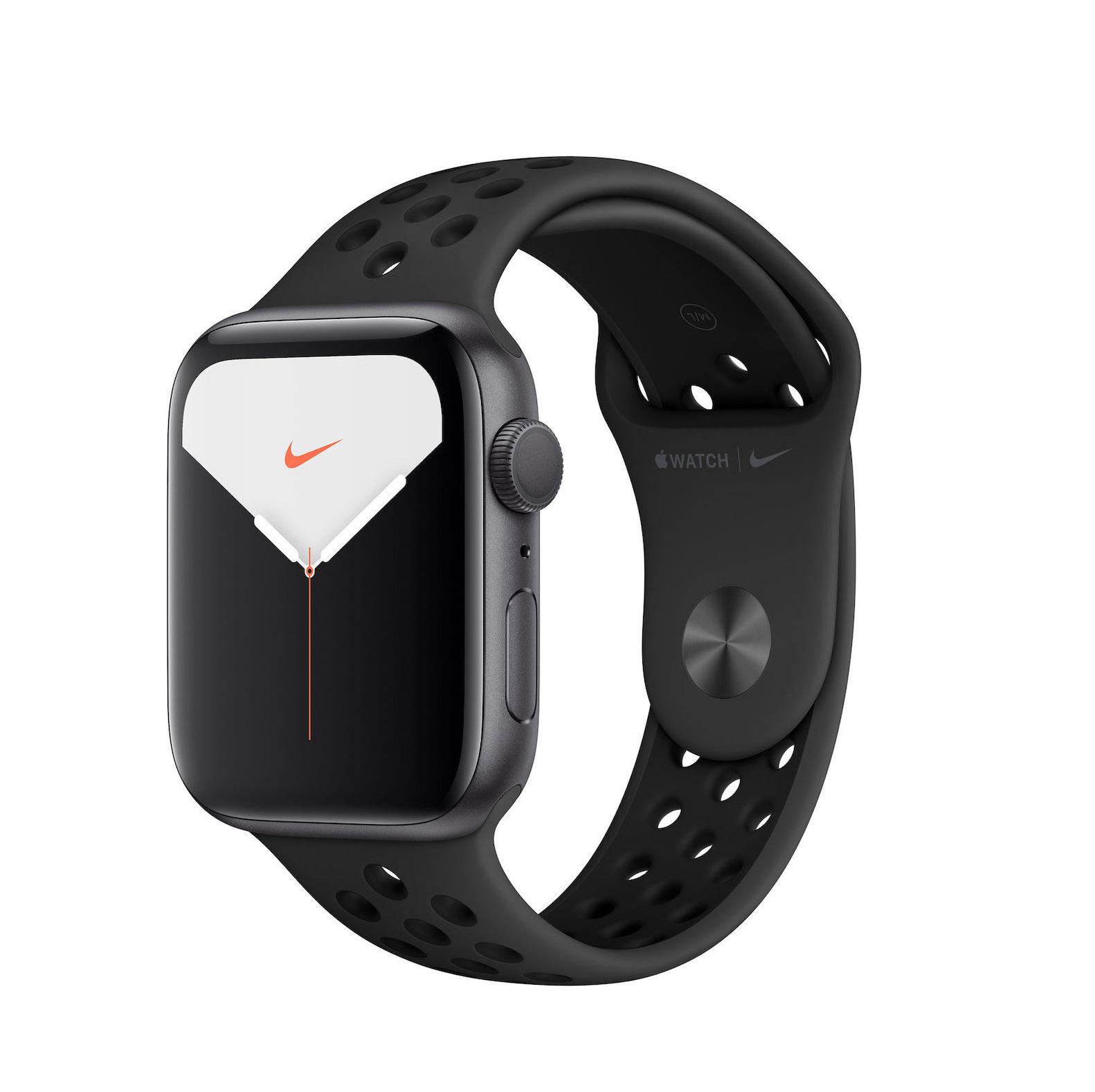 Apple Watch Series 5 Nike 44mm Aluminium Space Grey Black Sport Band MX3W2 Πληρωμή έως 24 δόσεις