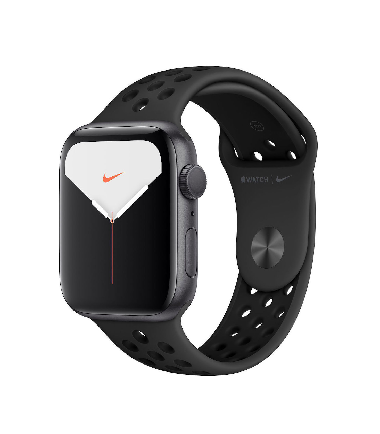 Apple Watch Series 5 Nike 40mm Aluminium Black Sport Band MX3T2 Πληρωμή έως 24 δόσεις*
