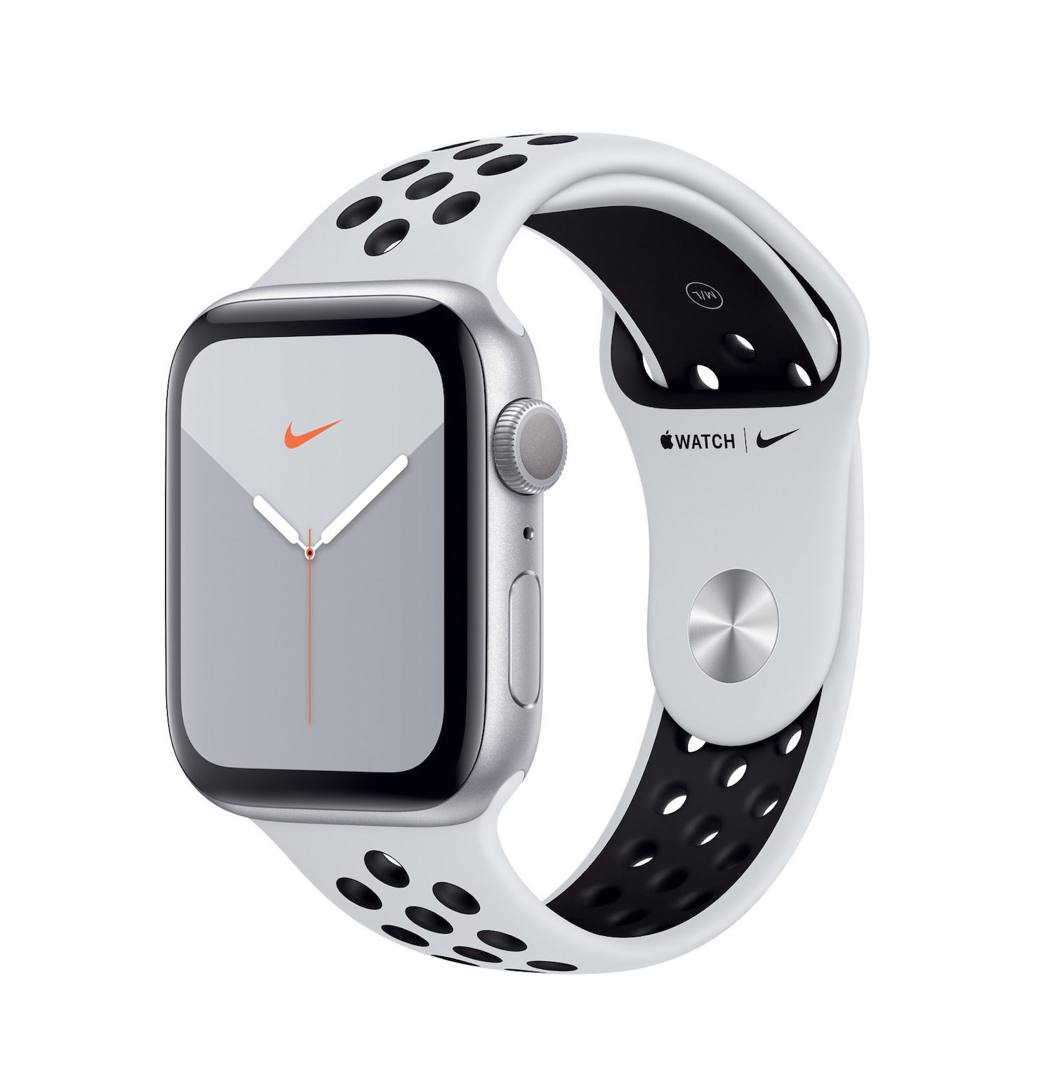 Apple Watch Series 5 Nike 44mm Aluminium Silver White Sport Band MX3V2 Πληρωμή έως 24 δόσεις