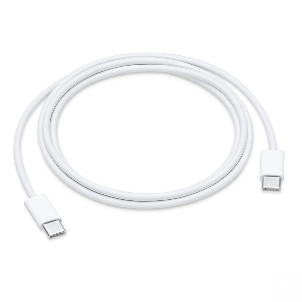 Apple Regular USB 2.0 Cable USB-C σε USB-C Λευκό 1m MUF72FE/A Retail